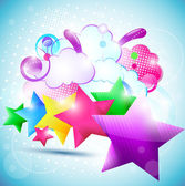 Fundo estrela bonito. eps10 — Vetorial Stock