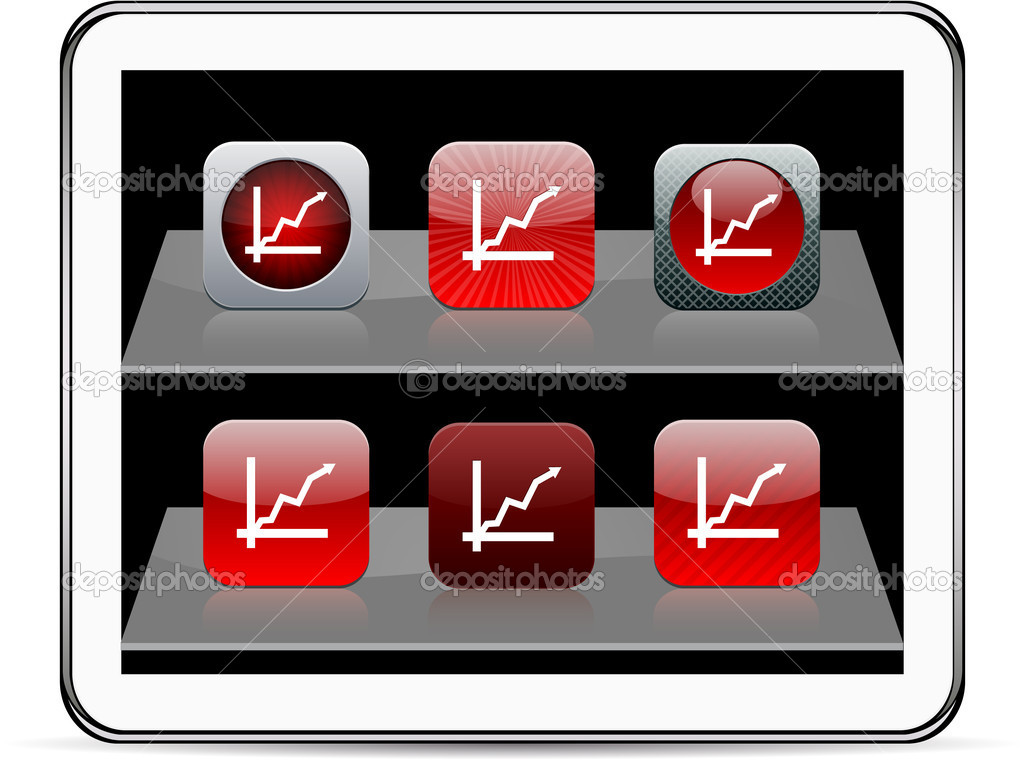 Positive trend Set of apps icons. Vector illustration doesn't contain transparency and other effects. EPS8 Only. — Stock Vector #6143147