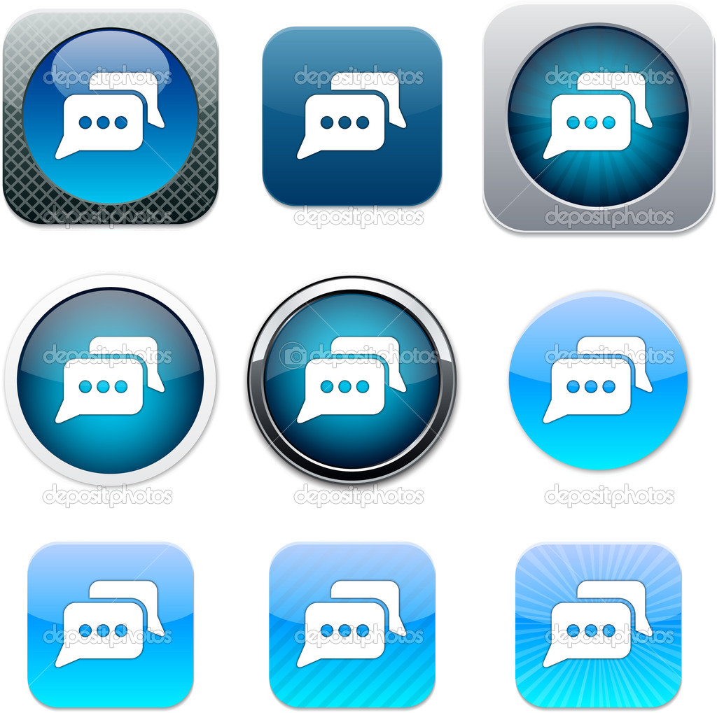 blue chat application