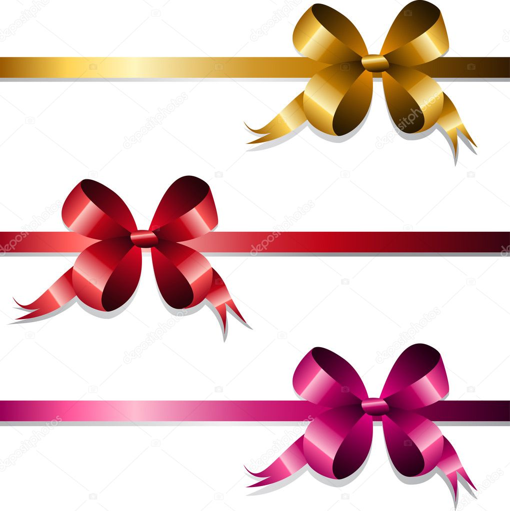 Set of gift bows and ribbons — Stock Vector #6145170