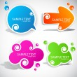 Colorful paper bubble for speech — Stock Vector #6153998