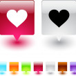 Heart square button. — Stock Vector #6154024