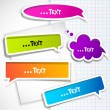 Colorful paper bubble for speech — Wektor stockowy  #6154027