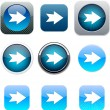 Forward arrow blue app icons. — Stock Vector