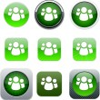 Forum green app icons. - Stockvectorbeeld