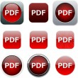 PDF red app icons. - Stockvectorbeeld