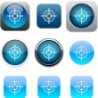 Stock Vector: Sight blue app icons.