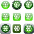 Royalty-Free Stock Vector Image: Target green app icons.