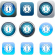 Information blue app icons. — Stock Vector
