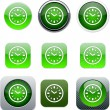 Time green app icons. — Stock Vector #6155882