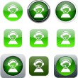 Operator green app icons. - Stock Vector