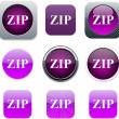 ZIP purple app icons. — Stock Vector