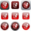 Form and pen red app icons. — Stock Vector #6156679