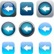 Royalty-Free Stock Vector Image: Back arrow blue app icons.