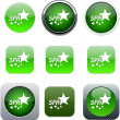 Royalty-Free Stock Vector Image: Spa green app icons.