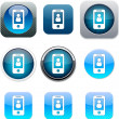 Person blue app icons. — Stock Vector #6156704