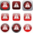 Exclamation sign red app icons. — Stock Vector