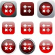 Royalty-Free Stock Vector Image: Calculate red app icons.