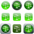 Stock Vector: Balance green app icons.