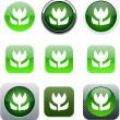 Macro green, app icons. — Stock Vector