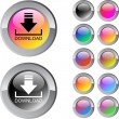 Stock Vector: Download multicolor round button.