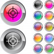 Sight multicolor round button. — Stock Vector