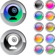 Webcam multicolor round button. — Vektorgrafik