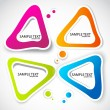 Colorful paper bubble for speech — Imagen vectorial