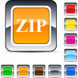 ZIP square button. — Stock Vector #6159280