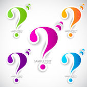 Colorful paper question mark for speech — Stock Vector