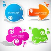 Barevné papírové bublina pro řeč — Stock vektor