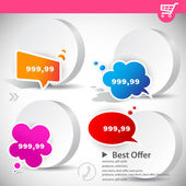 Web banners with product prices — Stock Vector