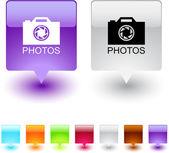 Photos square button. — Stock Vector