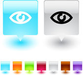 Botão quadrado de olho. — Vetorial Stock