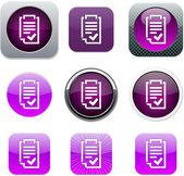 Forme pourpre app icônes. — Vecteur