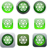 Target green app icons. — Stock Vector