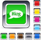 Blog square button. — Stock Vector