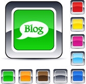 Botão quadrado blog. — Vetorial Stock