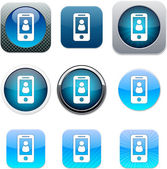 Person blue app icons. — Stock Vector