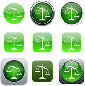 Balance green app icons. — Stock Vector