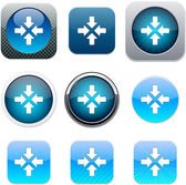 Click here blue app icons. — Stock Vector
