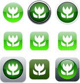 宏绿、 应用程序图标. — 图库矢量图片