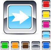 Usunąć krzyż kwadrat przycisk. — Wektor stockowy