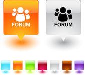 Forum square button. — Stock Vector