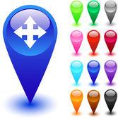 Map button. — Stock Vector