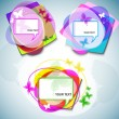 abstract vector bubbels voor spraak — Stockvector