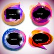 Abstract vector bubbles for speech - Imagens vectoriais em stock