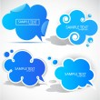 Stock Vector: Paper cloud bubble for speech