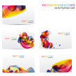 Modern Business-Card Set - Stockvectorbeeld