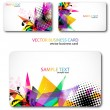 Modern Business-Card Set - Vettoriali Stock
